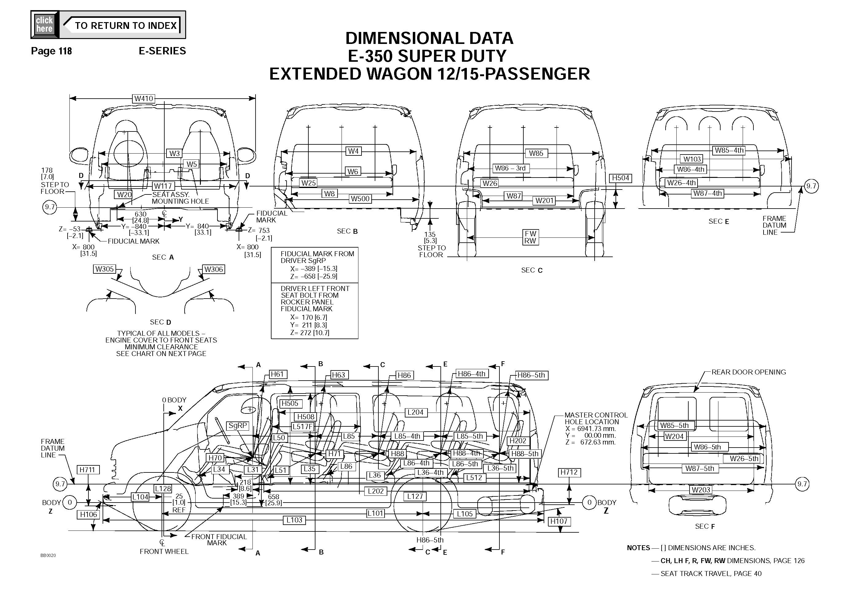 Ford Econoline E350 Van DIMENSIONAL DATA_Seite_3