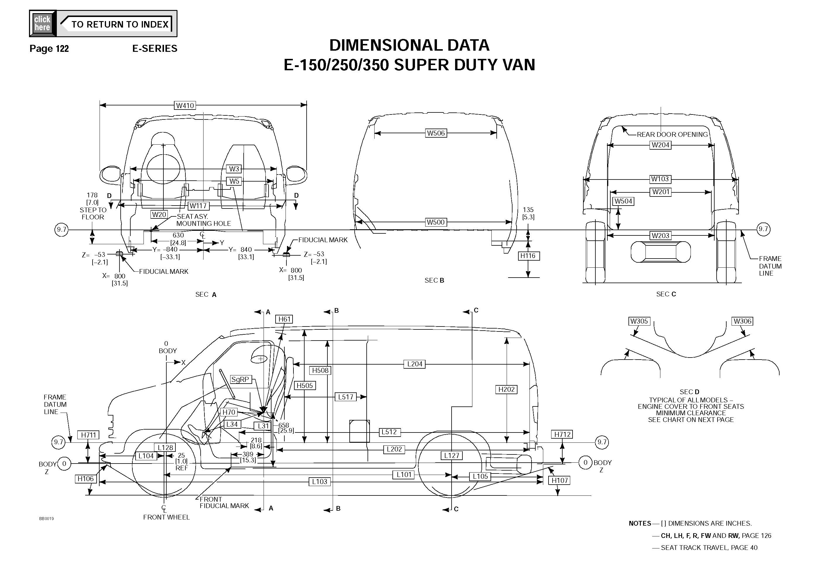 Ford Econoline E350 Van DIMENSIONAL DATA_Seite_7
