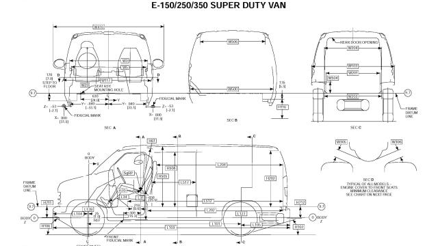 Ford Econoline E350 Van DIMENSIONAL DATA_Seite_7
