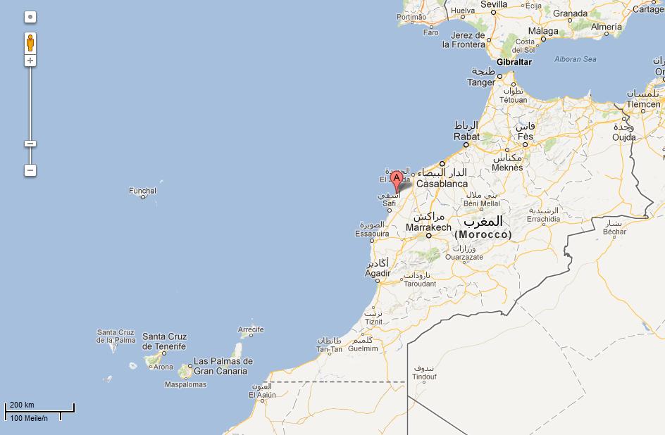 Oualida, Google Maps