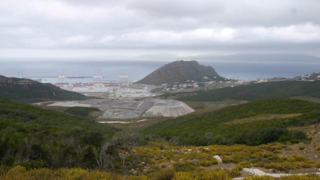 Blick von Marokko nach Gibraltar