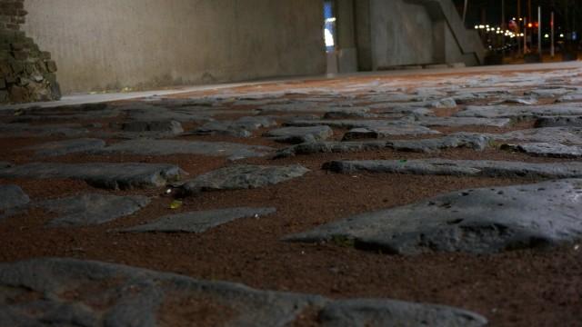 Teil der römischen Hafenstrasse 4. Jahrh.