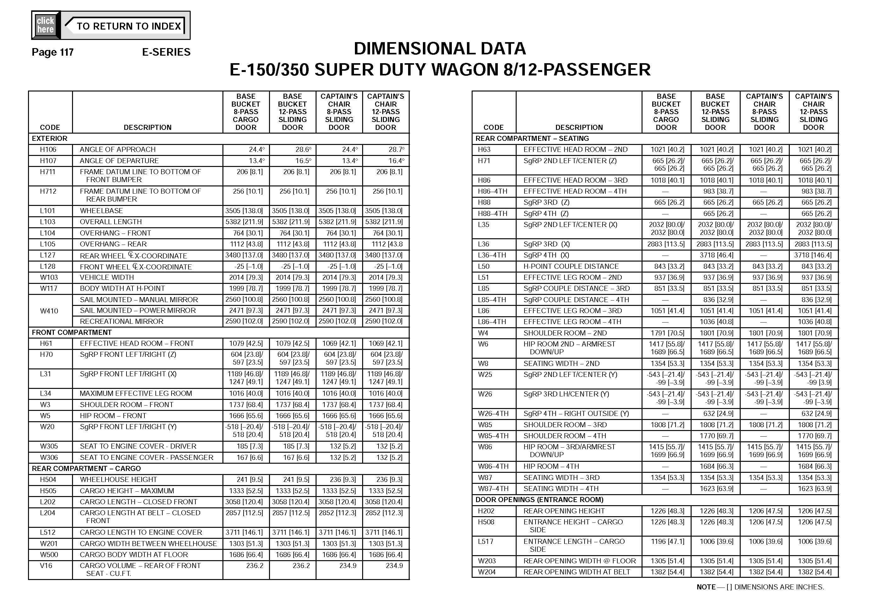 Ford Econoline E350 Van DIMENSIONAL DATA_Seite_2