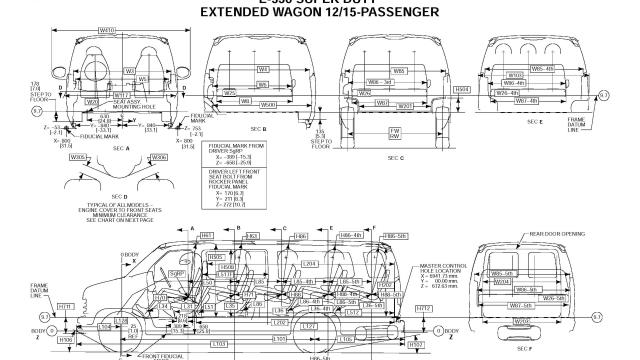 Ford Econoline E350 Van DIMENSIONAL DATA_Seite_3